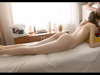 Skinny nymph and wicked massage