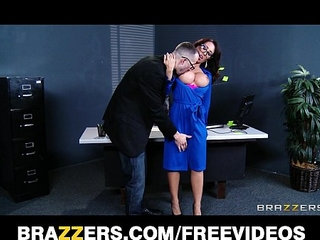 Capri Cavanni sneaks out of office party deepthroats big dick