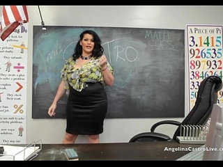 Big titted angelina castro in class footjob