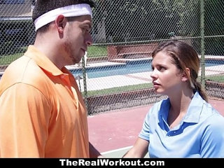 Therealworkout keisha grey pounded after playing tennis