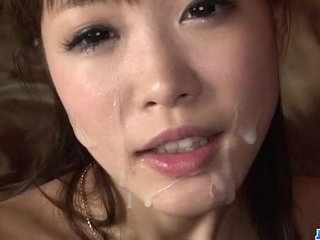 Momoka Rin blows hard and then fucks like a goddess