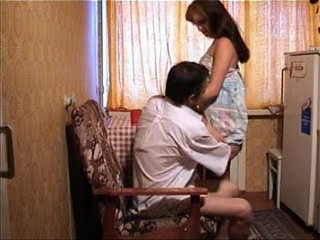 Young girl fucked by her father