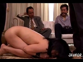 Forced by her husbands boss. Full video